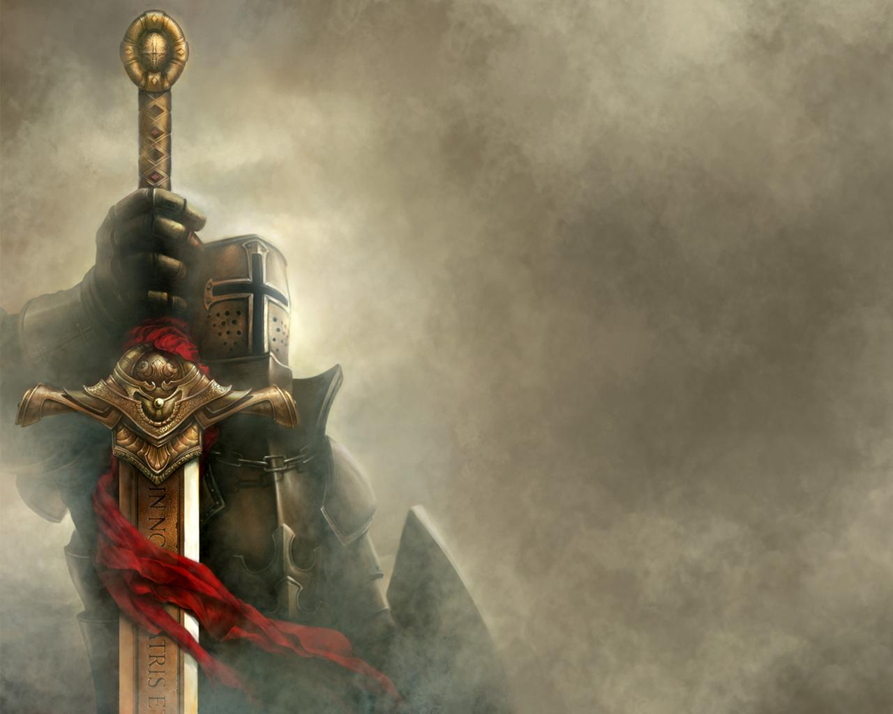 WALLPAPERS HD FREE   Knights Warriors Medieval 1280x1024