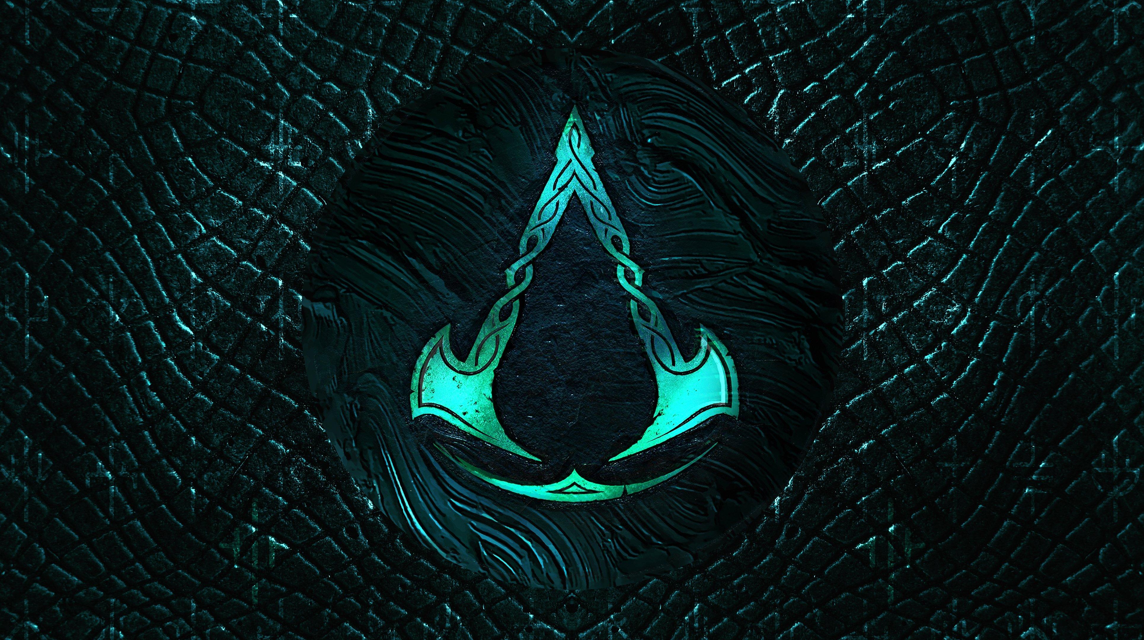 Assassins Creed Valhalla 4K Logo Wallpaper SyanArt Station 3860x2160