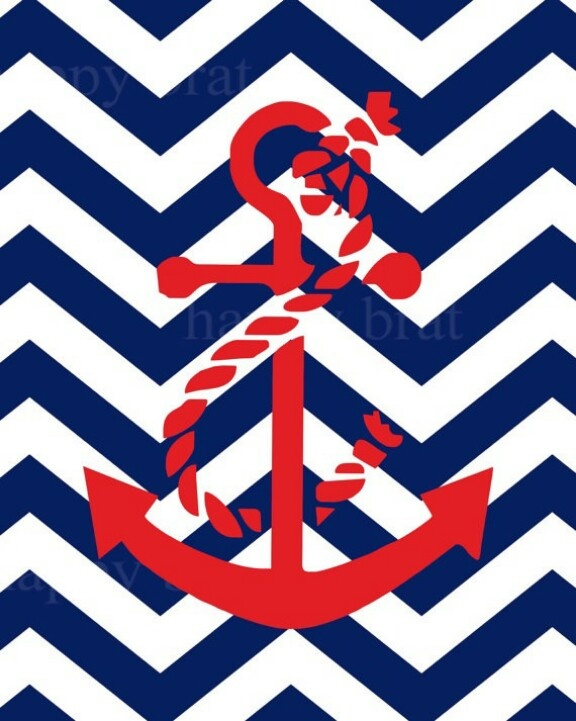 Art Nautical Anchors Iphone Wallpapers Anchors Art Anchors Chevron 576x721