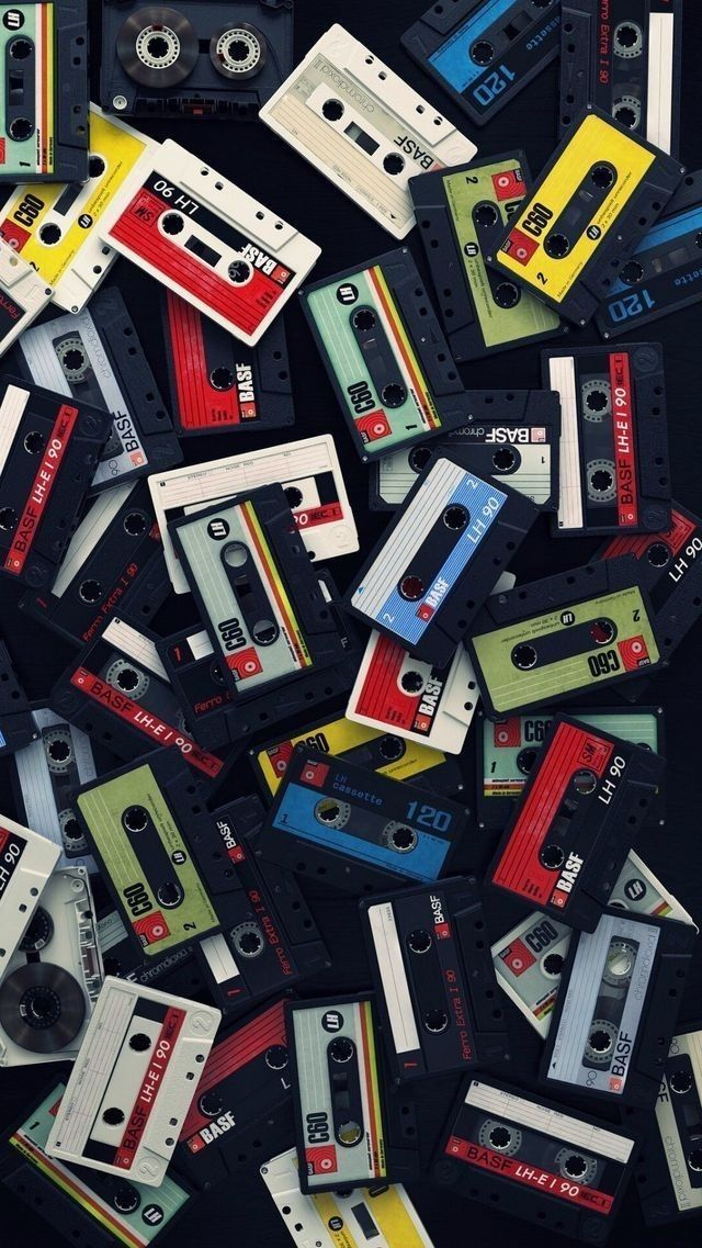 Tapes CasseteTapes OldSchool Wallpaper With images Retro 640x1137