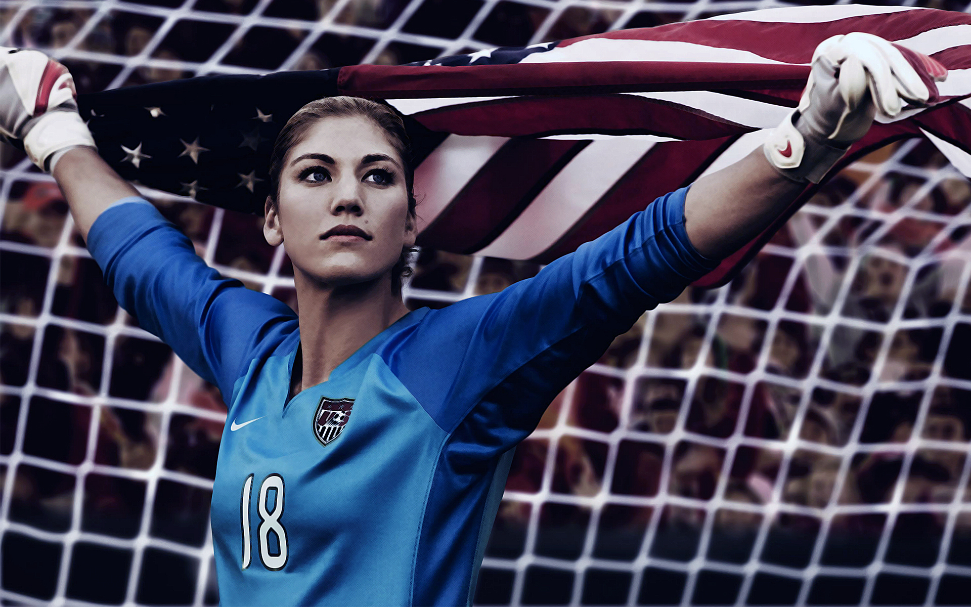 Hope Solo American Soccer Player And Two Time Olympic Gold Medalist 1920x1200