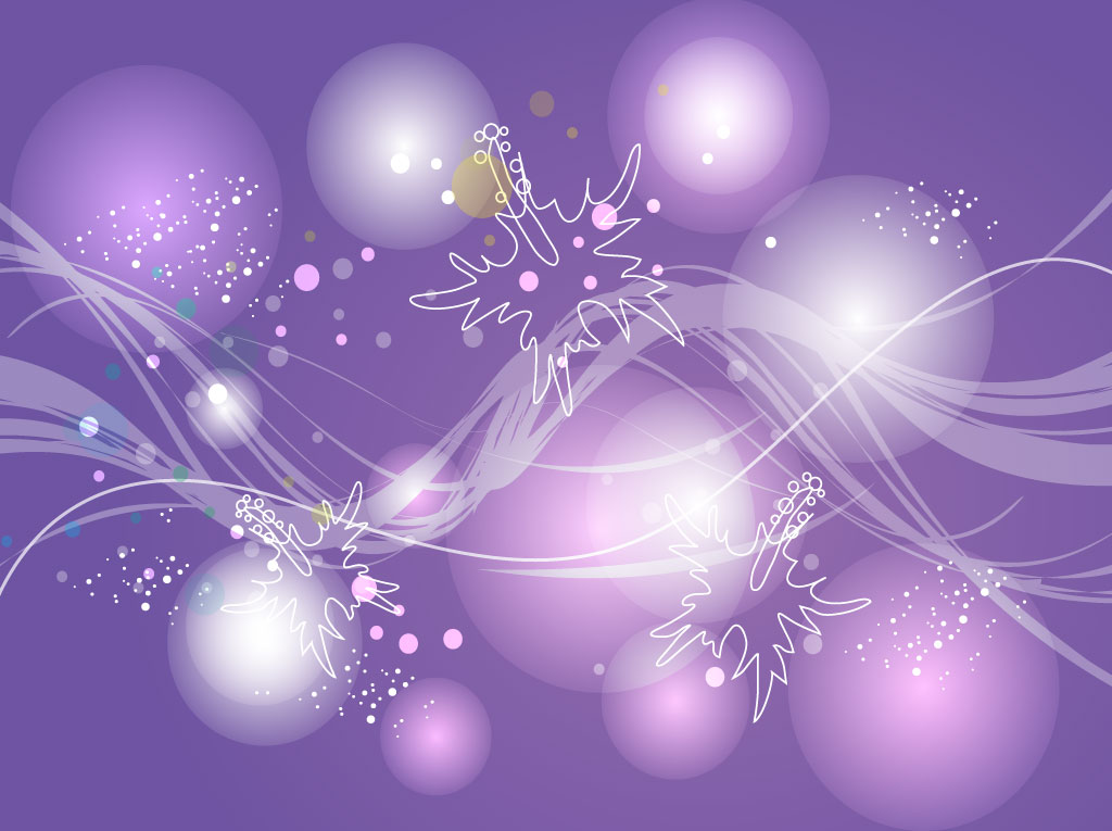 lavender vector background with a tropical flower design decorated 1024x765