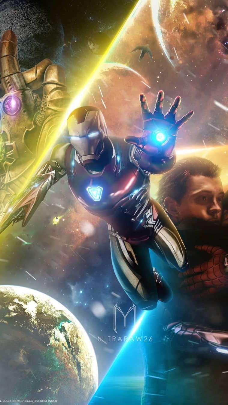 Avengers Endgame Tony Stark Iron Man HD iPhone Wallpaper foto 759x1350