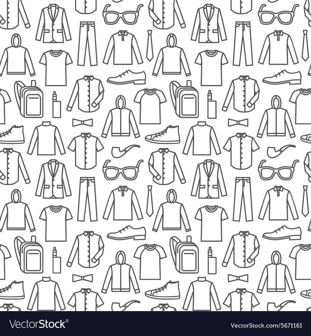 Endless clothes background Royalty Vector Image 1000x1080