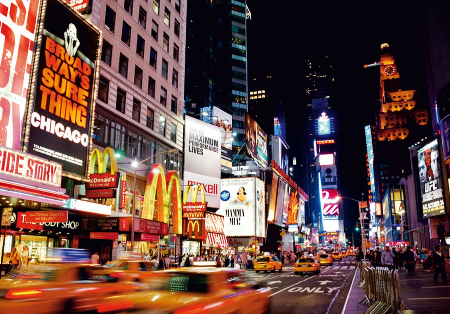 Free Download Wall Mural Wallpaper New York Times Square By Night