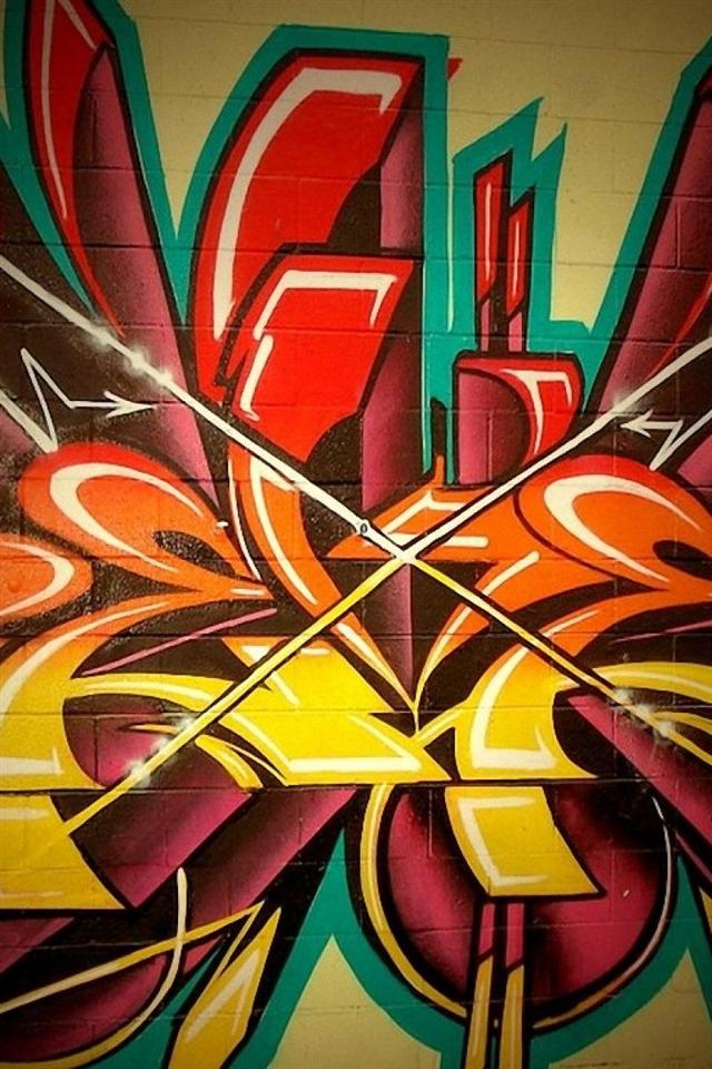 Colourful graffiti wallpaper for iphone 4 640x960