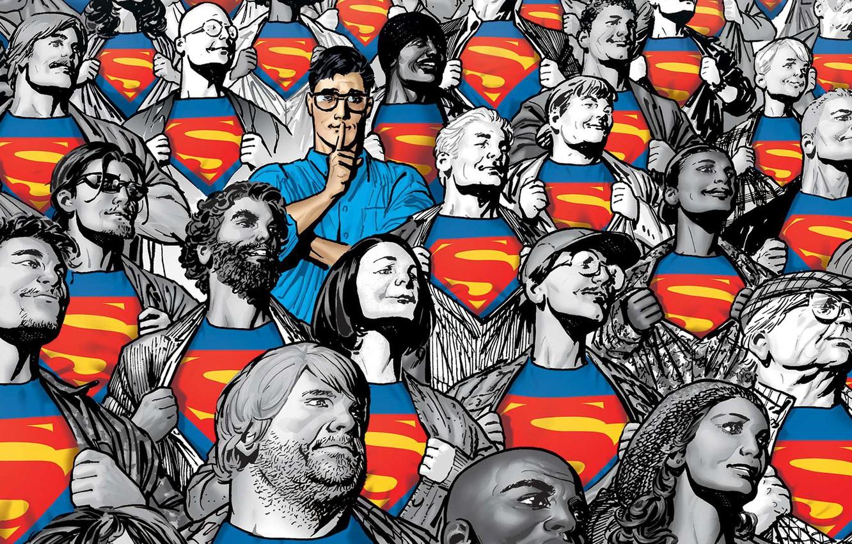 Wallpaper Glasses People T shirt Hero Superman Comic 1332x850