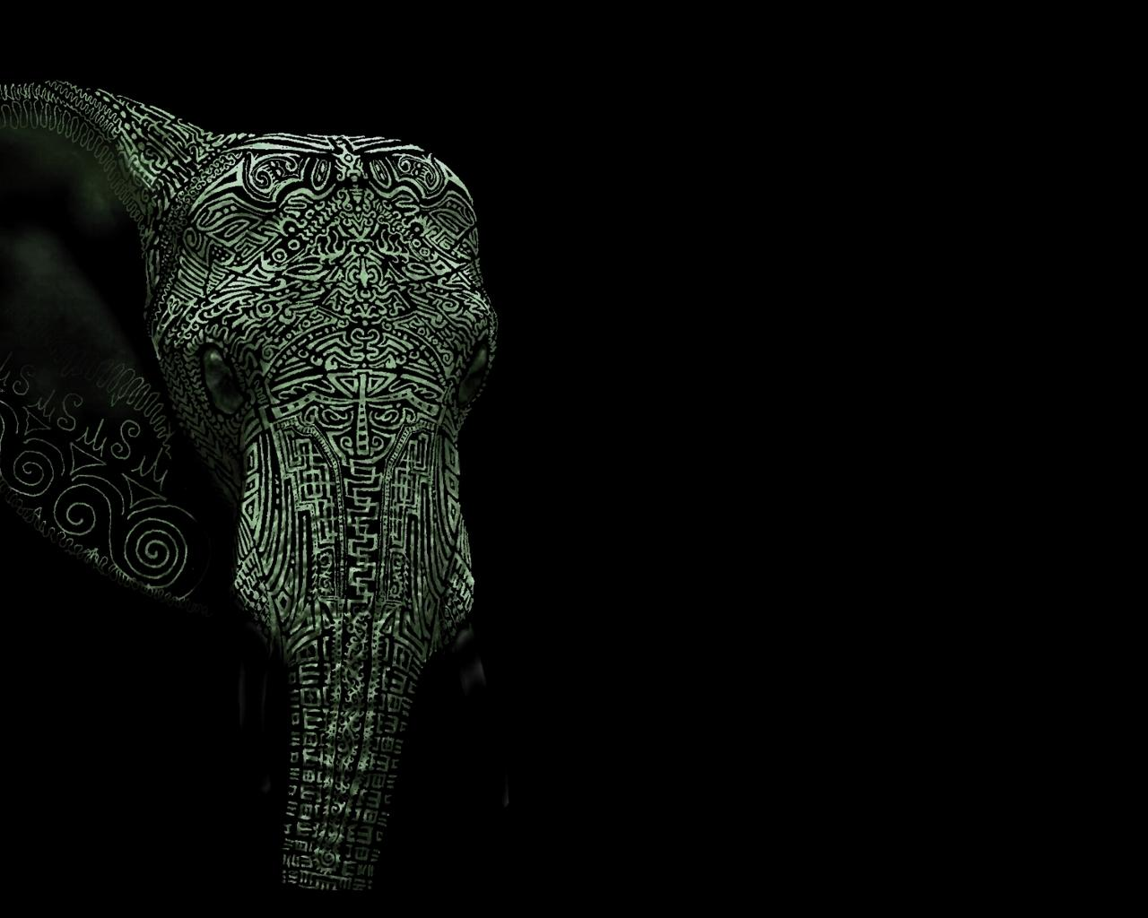 Hd wallpaper tattoo - Elephant The Free Tattoo Wallpaper 1280x1024 Full Hd Wallpapers
