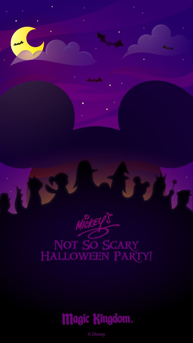 Walt Disney World Halloween cell phone wallpapers NotSoScary Disney 640x1136