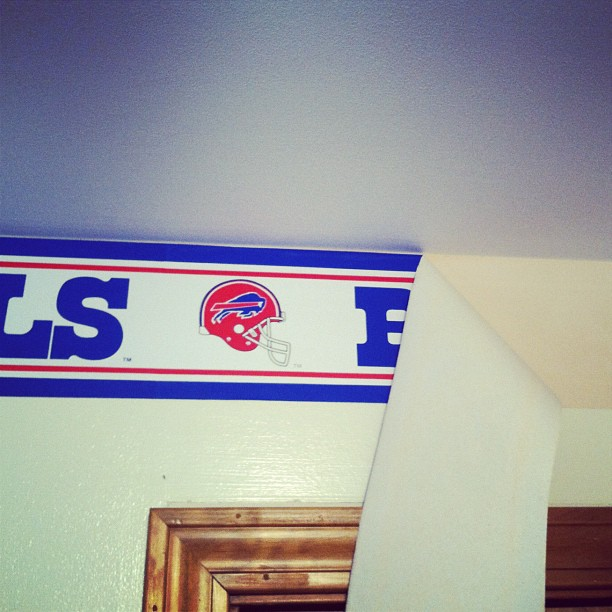 Buffalo Bills border of my youth is getting scraped off this weekend 612x612