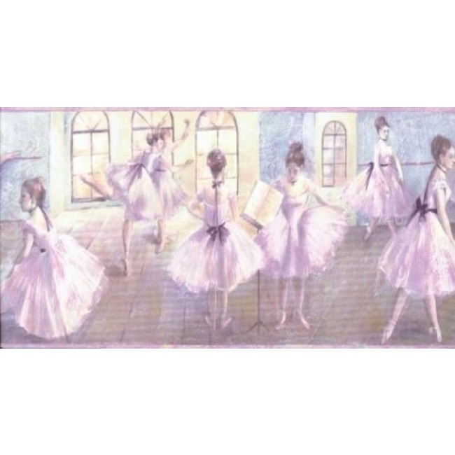 Ballerina Ballet for Girls Wallpaper Border   All 4 Walls Wallpaper 650x650