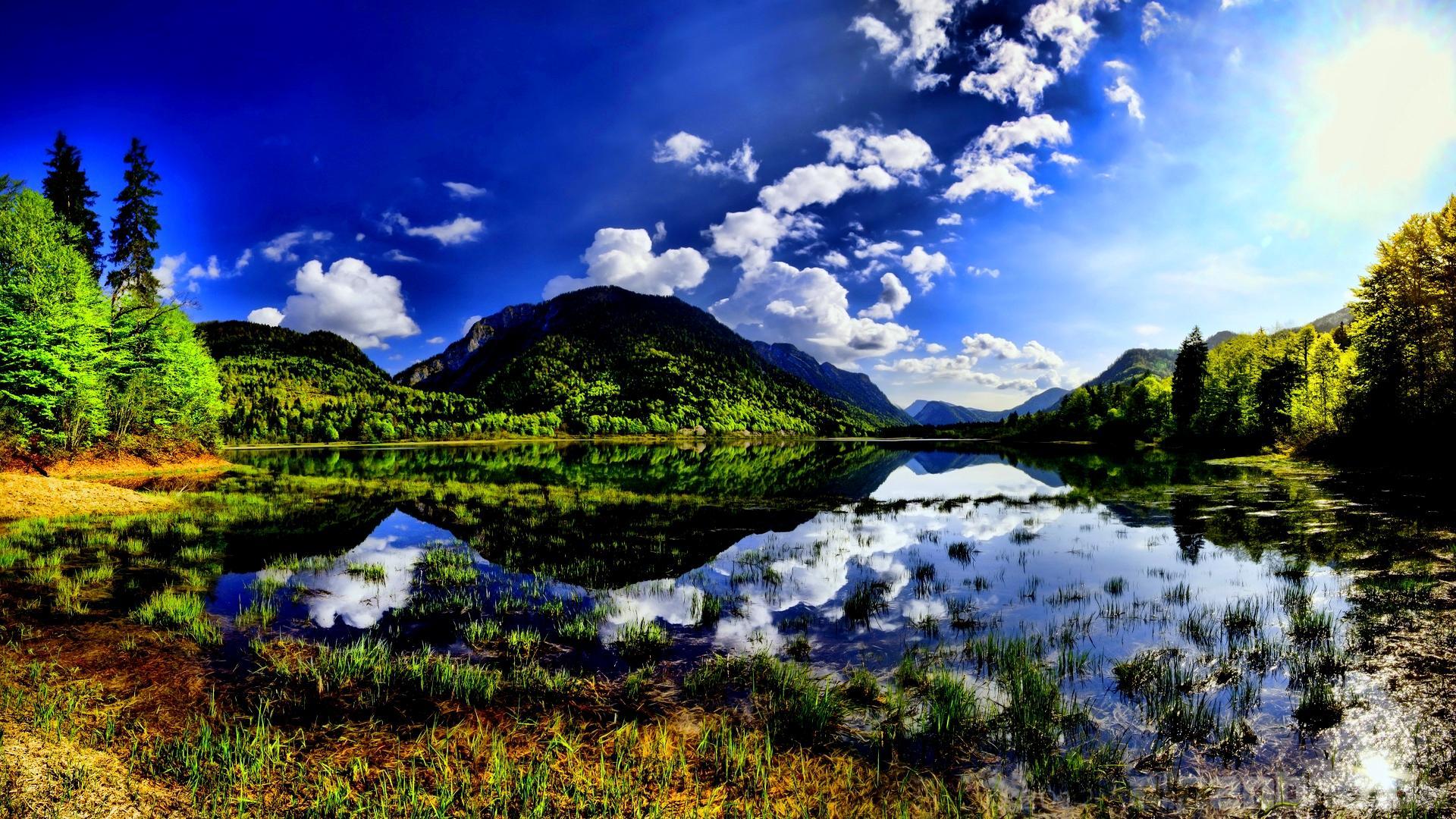 Lake Mountain Reflection Minimalism Wallpapers Hd: Lake Reflections Wallpapers