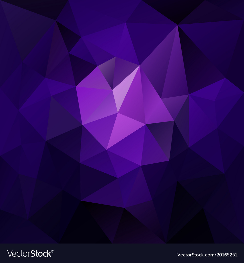 Polygonal square background blue purple Royalty Vector 1000x1080