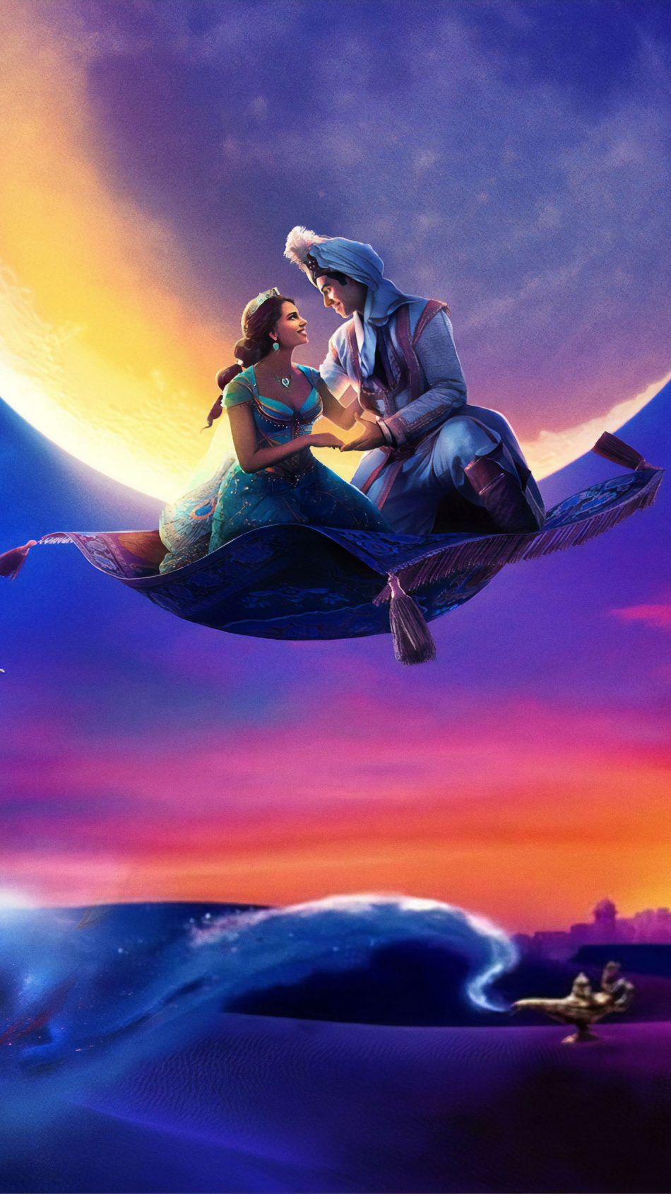 Naomi Scott Mena Massoud In Aladdin 2019 Movie Wallpapers 950x1689