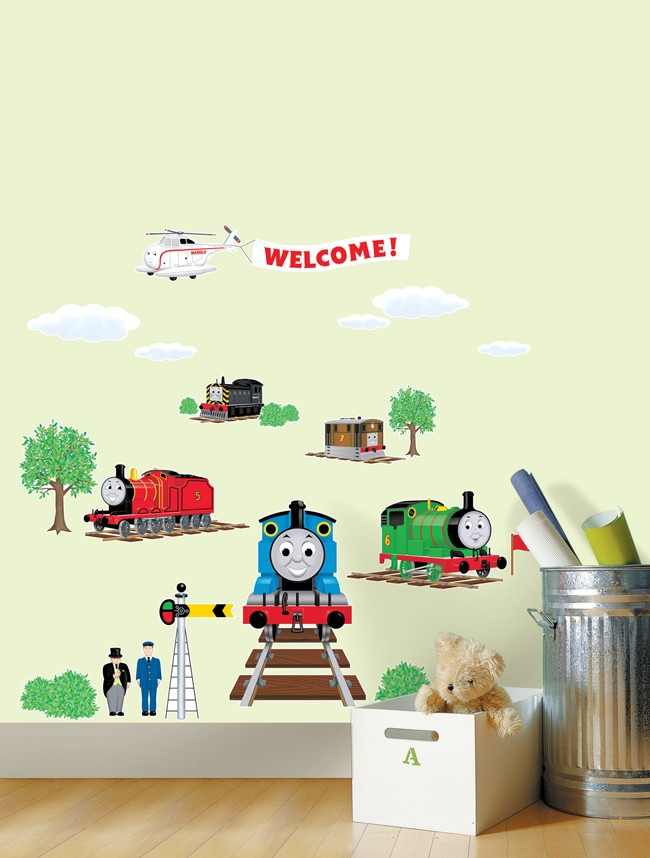 about THOMAS THE TRAIN FRIEND Adhesive Removable Wall Decor Accent 650x858