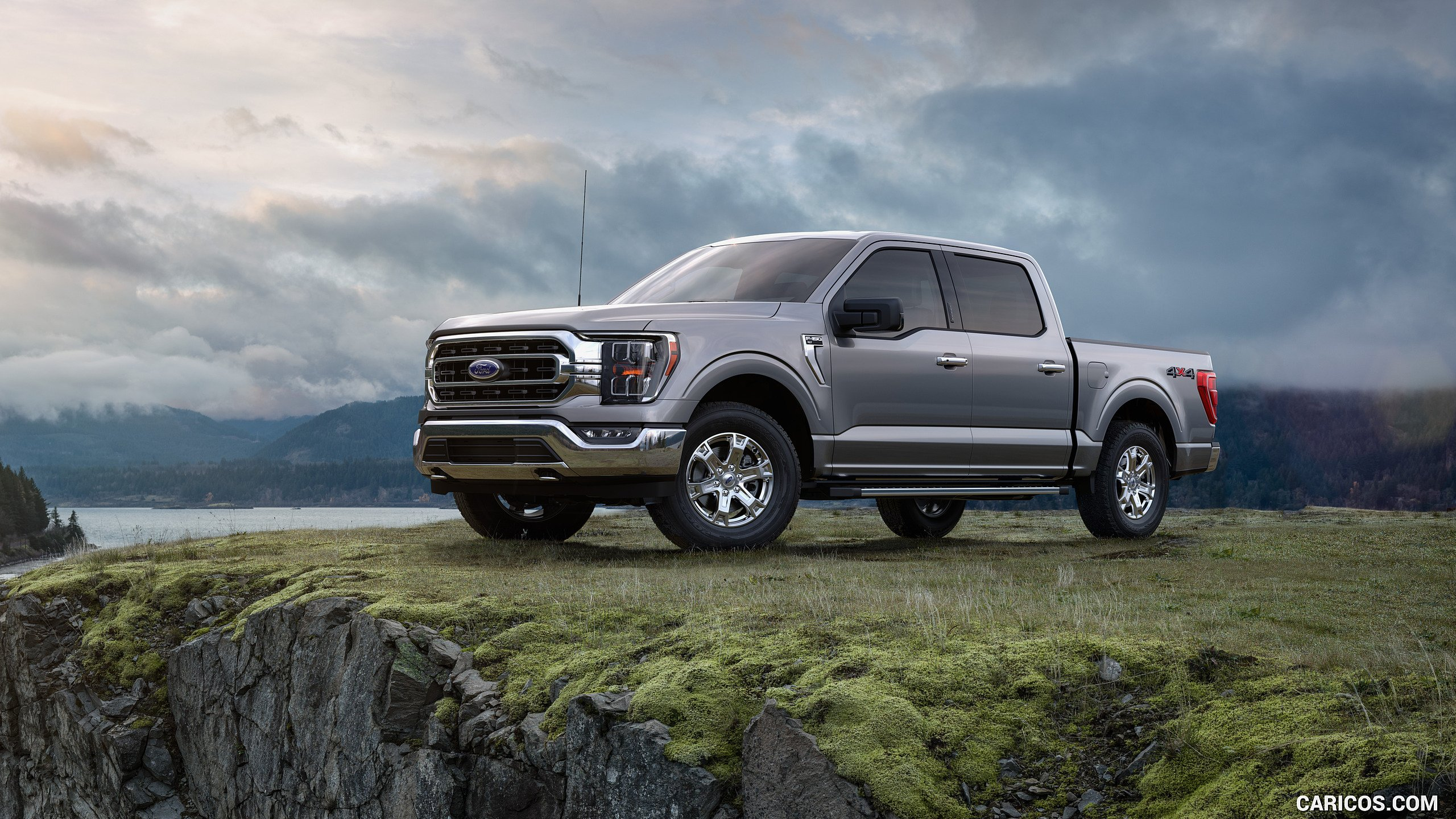 2021 Ford F 150 Platinum Color Iconic Silver   Front Three 2560x1440