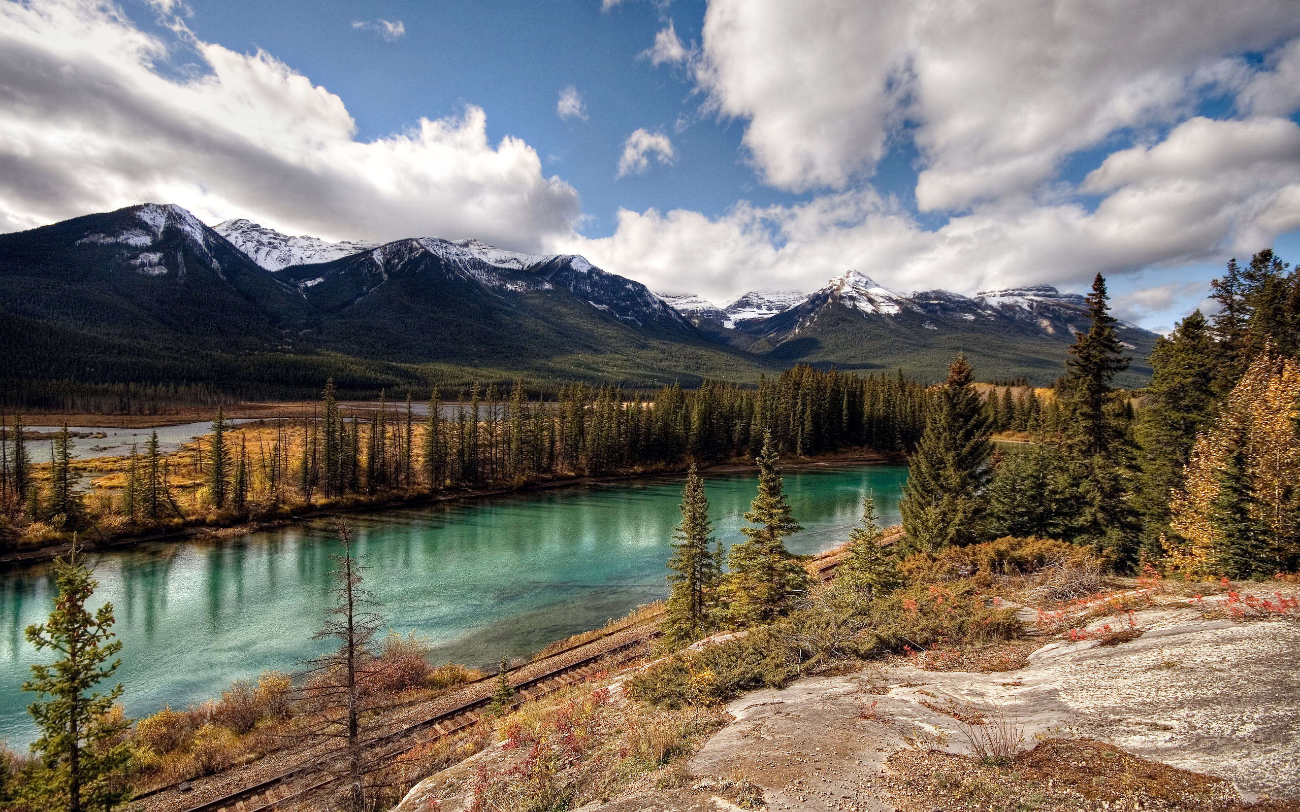 Banff National Park Canadian Pacific Railway HD Wallpaper Desivalley 2560x1600