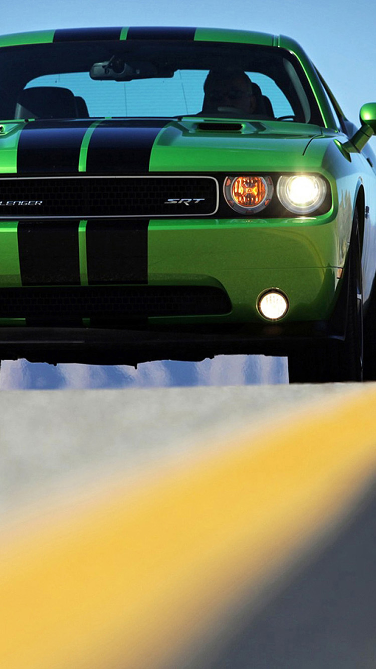 Green Dodge challenger iPhone 6 Wallpapers iPhone 6 Wallpapers 750x1334