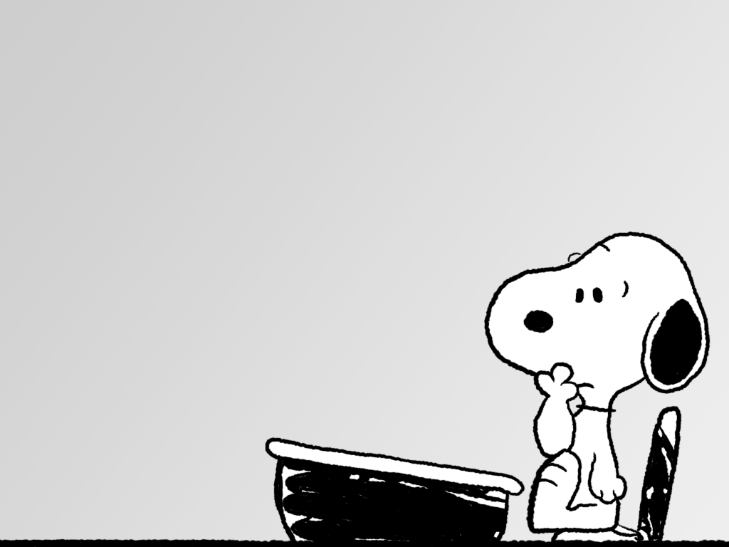 Snoopy at desk   Peanuts Wallpaper 3089123 1024x768