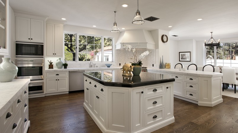 White Kitchen Cabinets HD Wallpaper   WallpaperFX 804x452