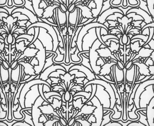 Art Nouveau Wallpaper eBay 500x410