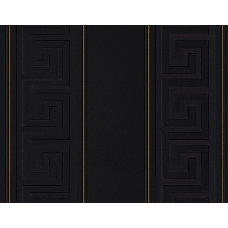 Home Versace Home Greek Key Black Stripe Luxury 70CM Wallpaper by 800x800