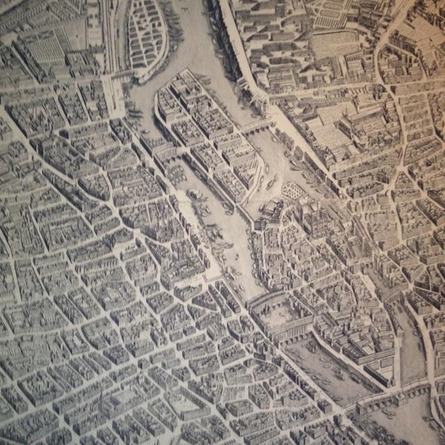 Vintage Paris map wallpaper   love Decorating tips Pinterest 640x640
