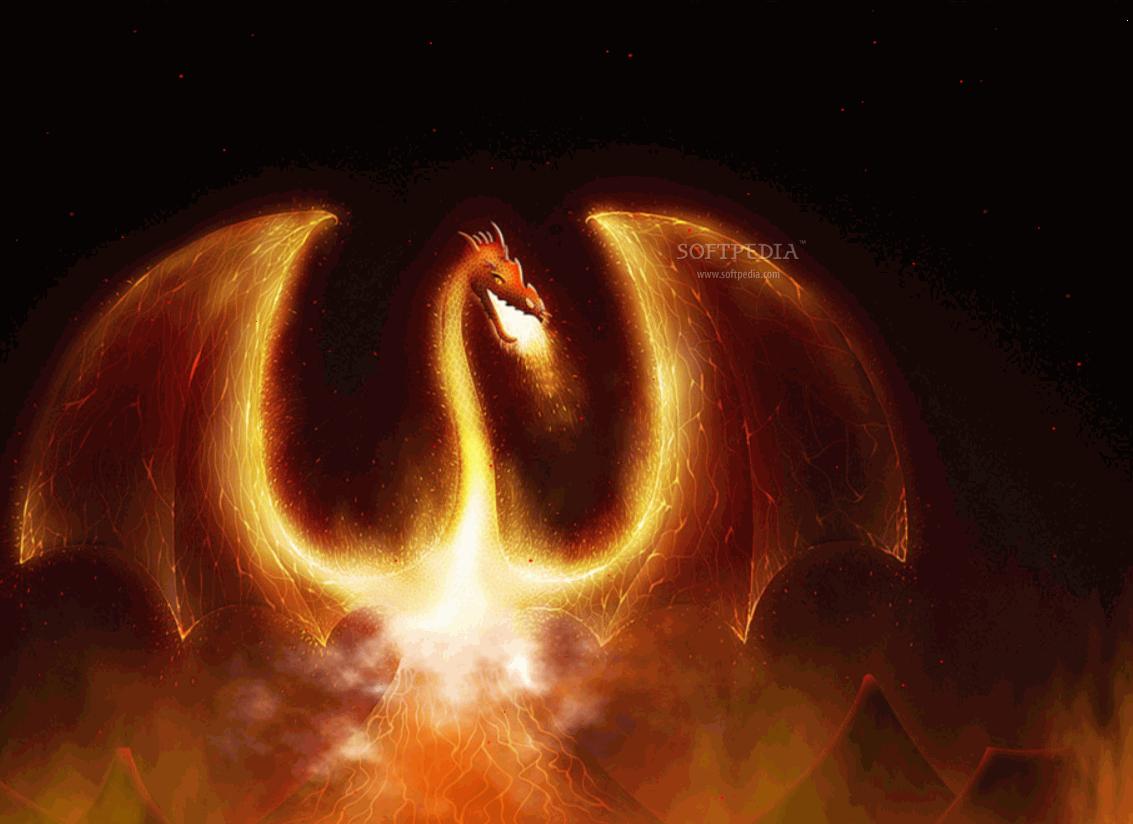 Fire Dragon Animated Wallpaper Screenshots screen capture 1133x824