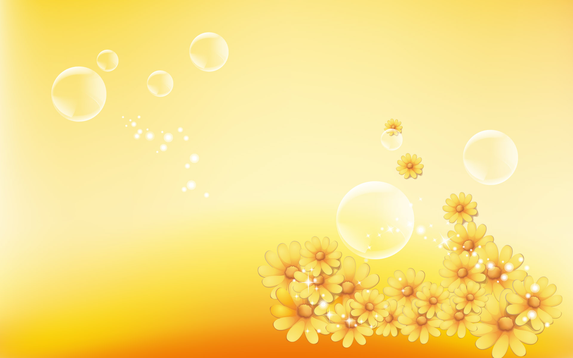 Yellow Floral Background   Wallpaper 34907 1920x1200