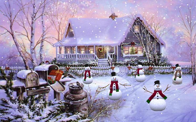 Screensavers Fun with Snowmen 2007 Downloads 746x463