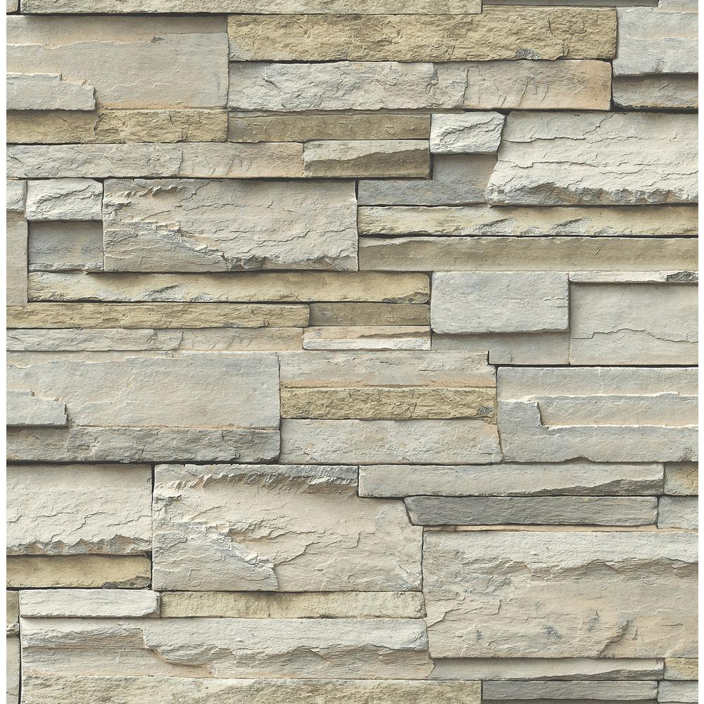 NuWallpaper Stone Slate Peel and Stick Wallpaper Roll NU2675   The 1000x1000