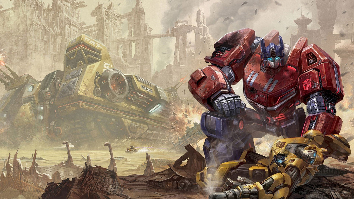free transformers fall of cybertron wallpaper in 1366x768 1366x768