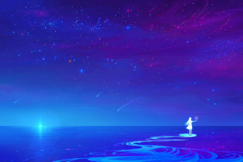 [88+] Anime Sky Wallpapers on WallpaperSafari