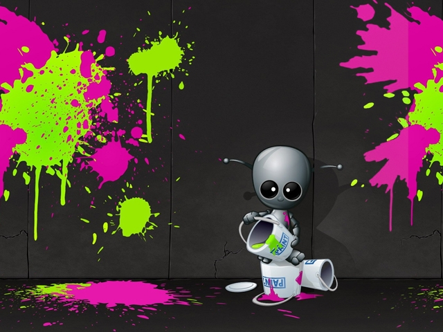 Cute Robot Love Wallpaper Cute Robot Wallpaper -...