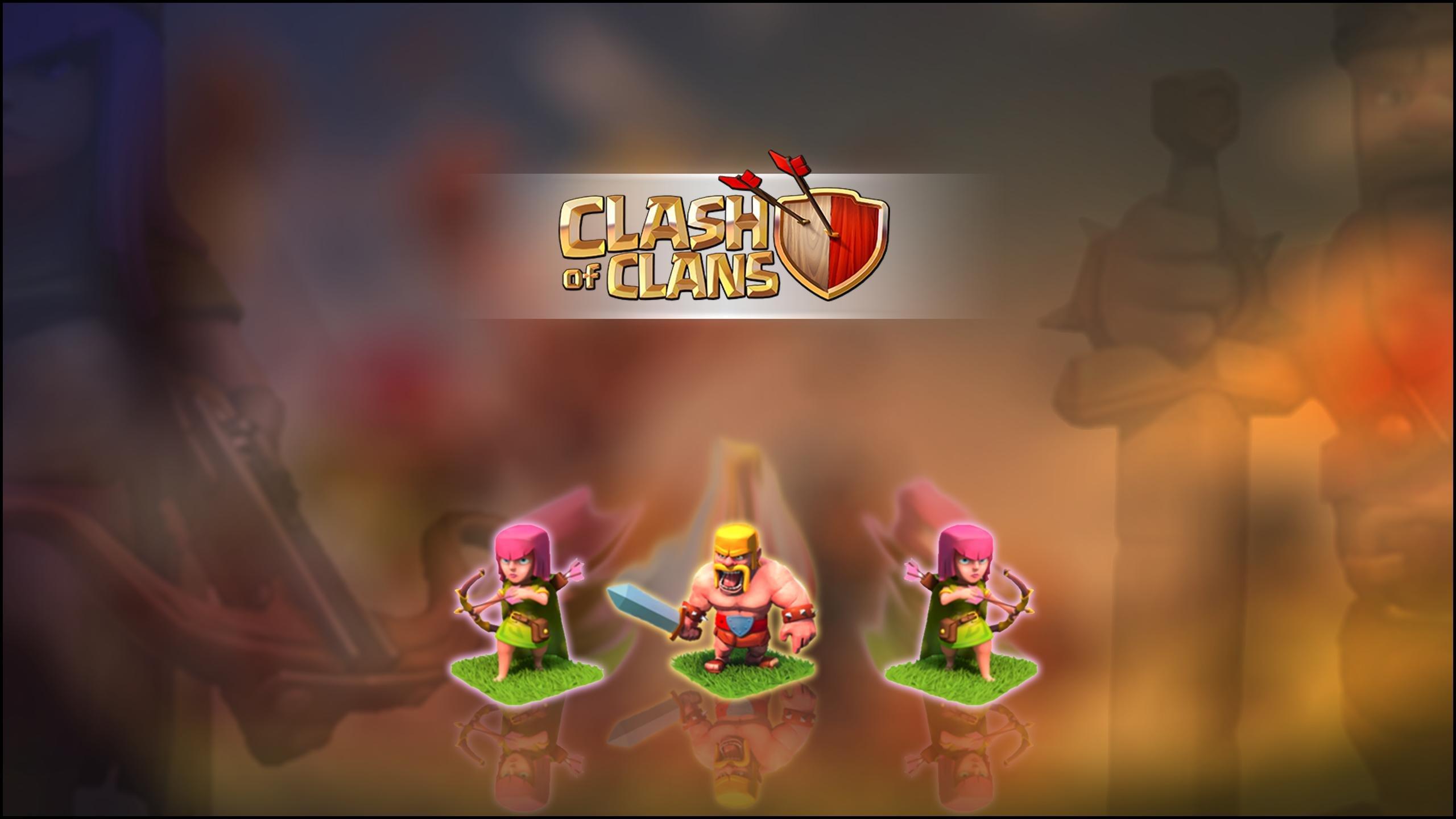 Clash of Clans Archer Barbarian Wallpaper 2560x1440