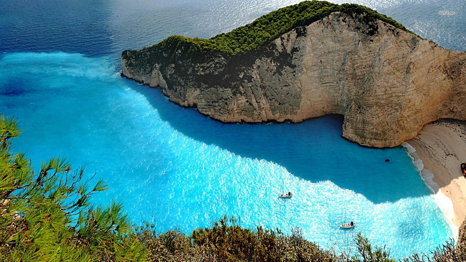 41 Greece Beach Wallpaper On Wallpapersafari