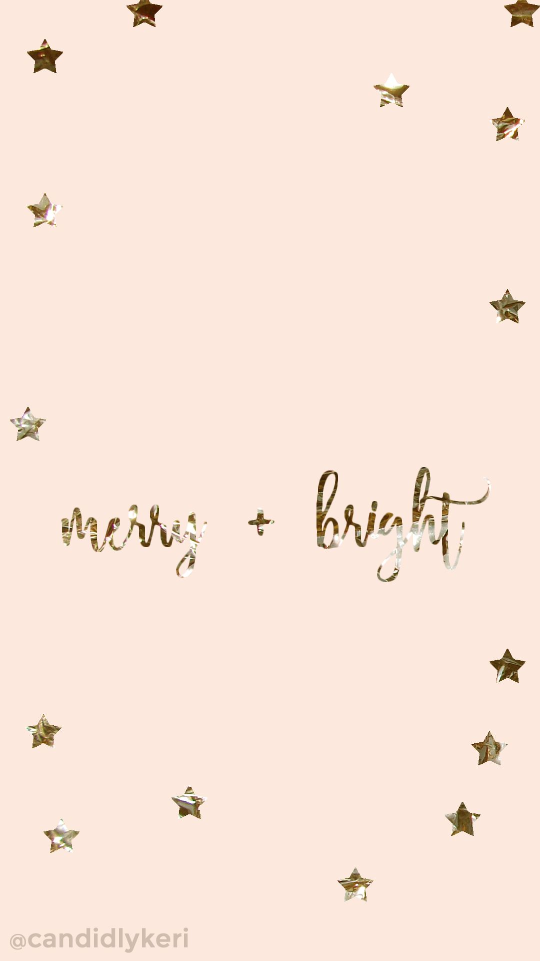 Merry and Bright gold foil pink stars background wallpaper you can 1080x1920