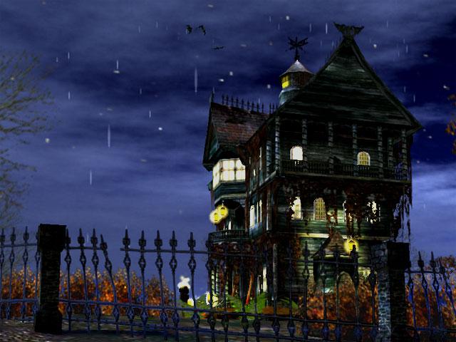 3D Haunted House Screensaver   3D Haunted Halloween Screensaver 640x480