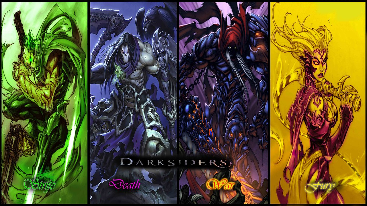 The 4 Horsemen by ShabaazKhanDarksiders 4 Horsemen Wallpaper 1280x720