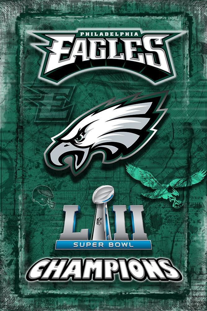 Philadelphia Eagles Super Bowl Championship 2018 Poster 667x1000