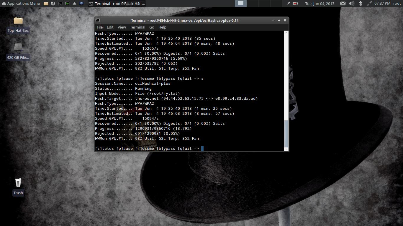 Black Hat Wallpaper Blackhat linux web site 1366x768