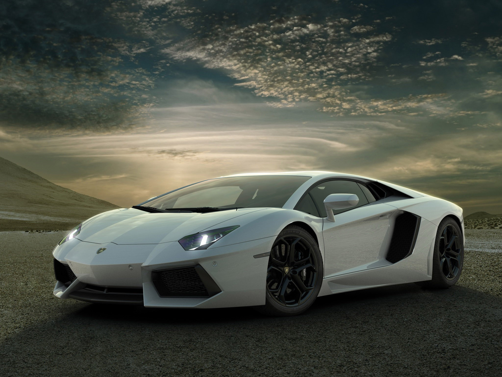 lamborghini aventador skyscapes wallpaper 2048x1536 15173 2048x1536