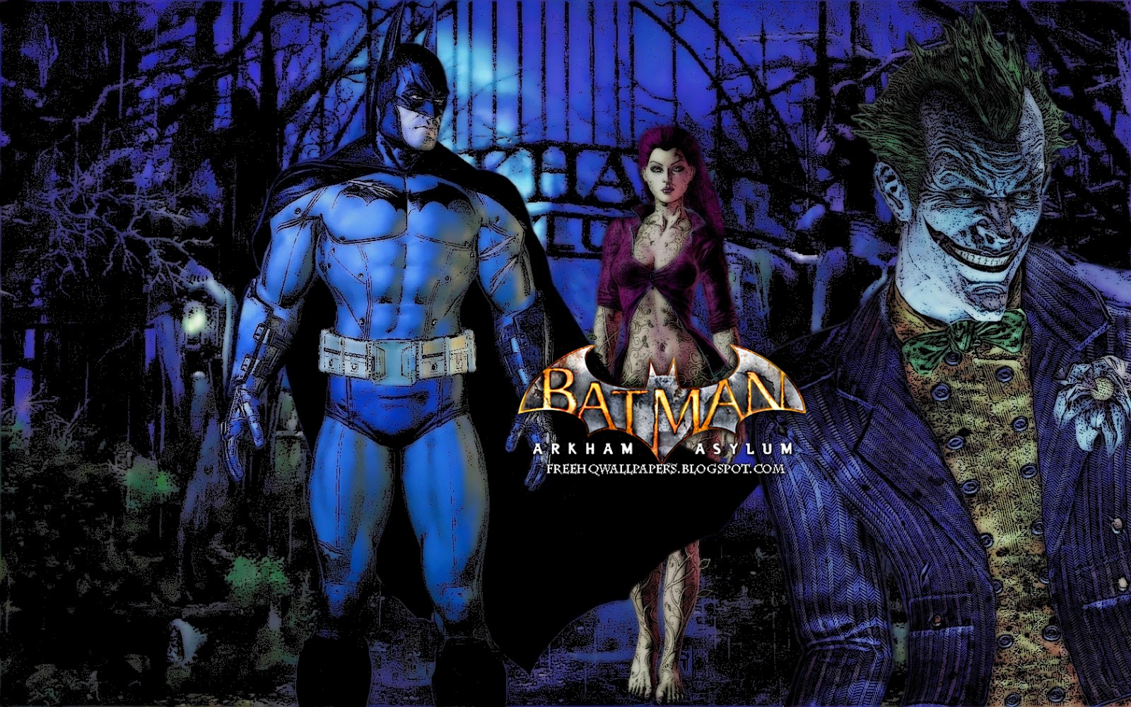 Batman Arkham Asylum HQ HQ Wallpapers 1600x1000