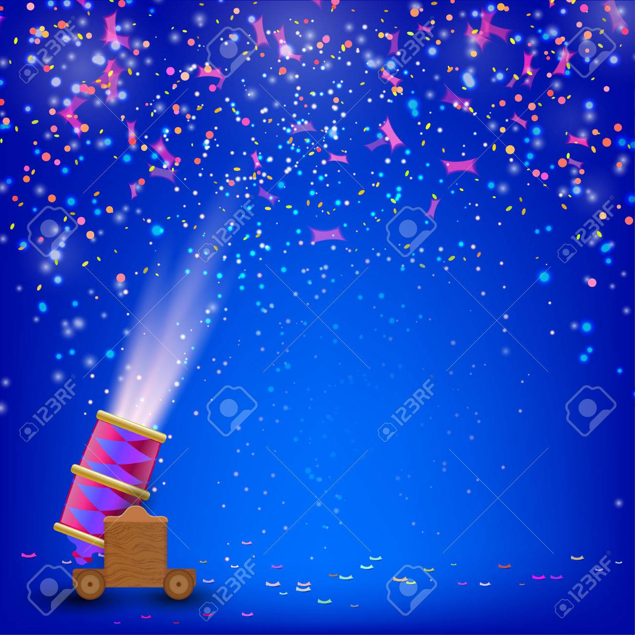 Festival Blue Background Festive Background With Shooting Guns 1300x1300