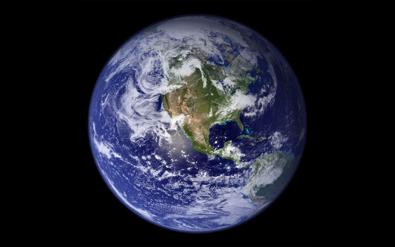 Earth From Space   Landscape Wallpaper 1600x1000