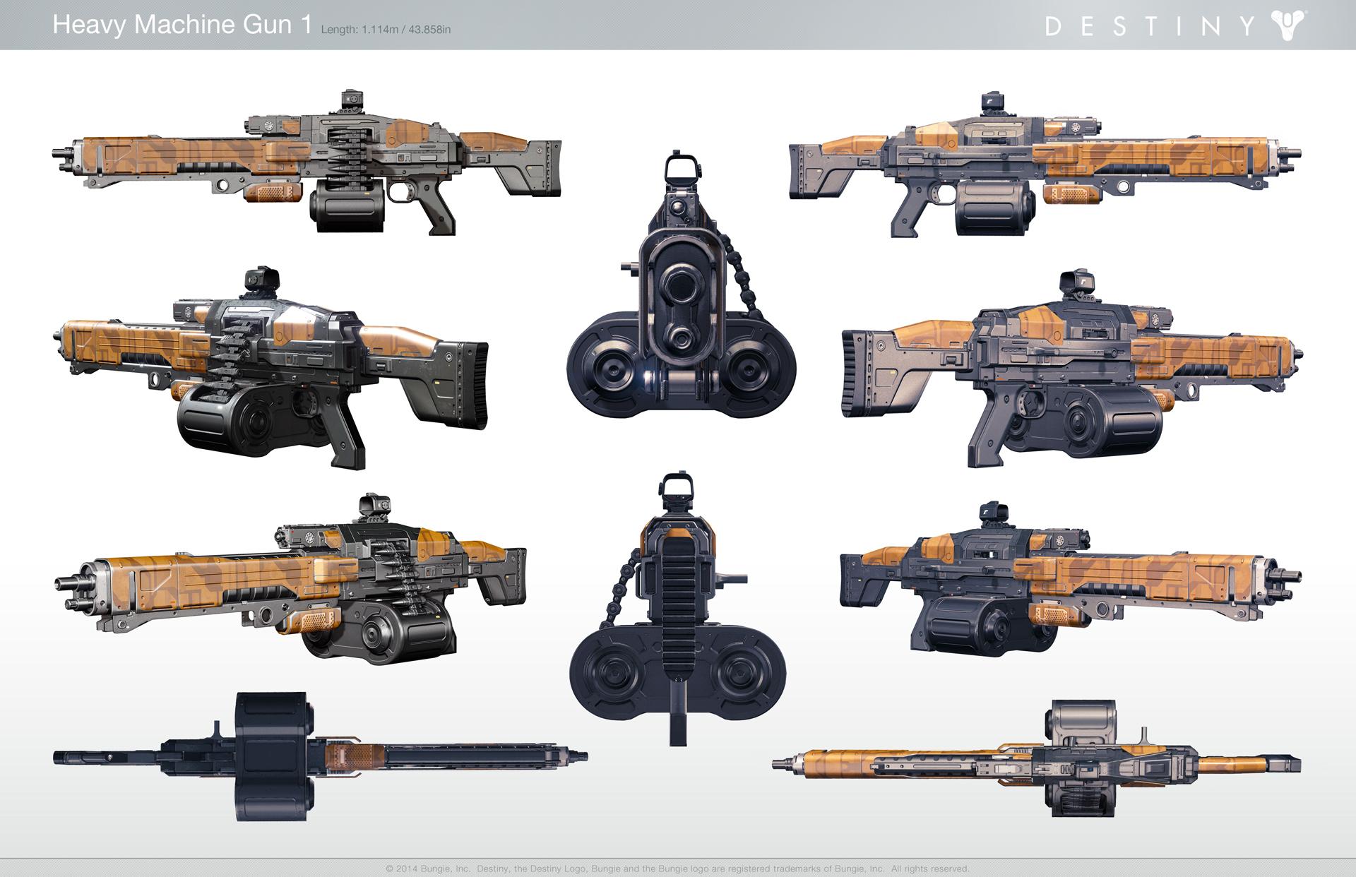 Destiny Heavy Machine Gun wallpaper 1920x1242
