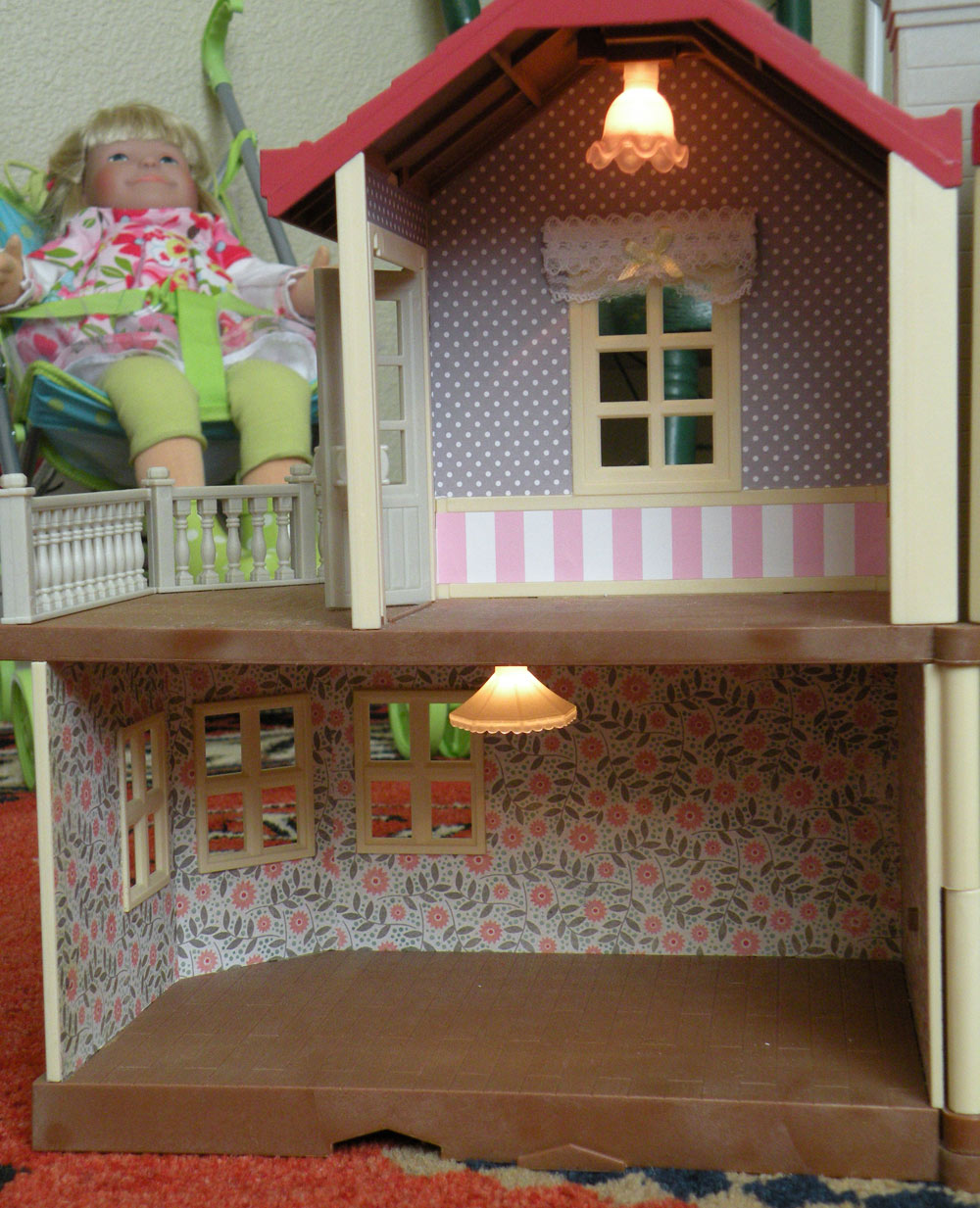 Calico Critters Sylvanian Families Luxury Townhouse Custom Wallpaper 1000x1233