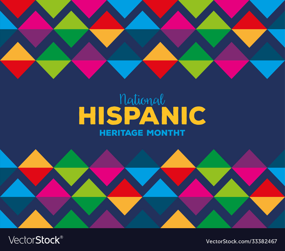 Colored pattern background national hispanic Vector Image 1000x879
