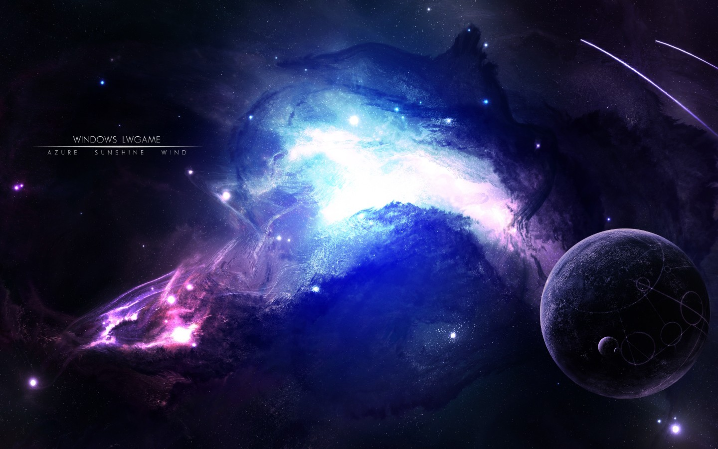 3d artwork outer space best widescreen background awesome HD Wallpaper 1440x900