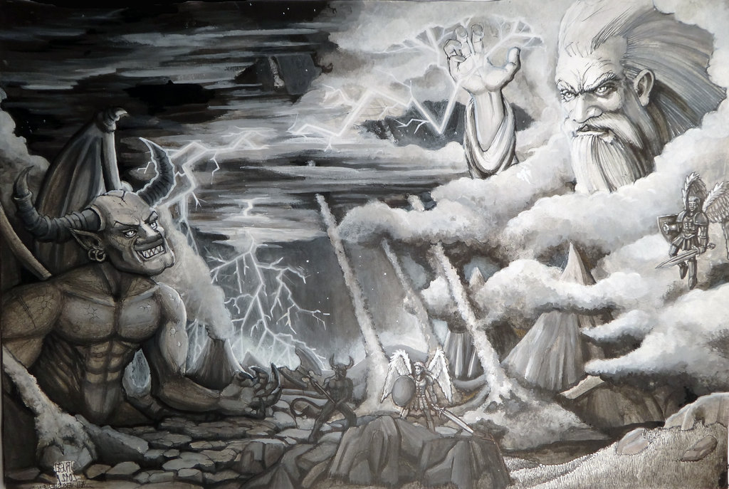 God Vs Devil Wallpaper Satan vs god wallpaper god vs
